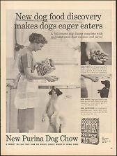 1957 Vintage ad for New Purina Dog Chow`Retro Fashion Apron Photo Dog (050117)