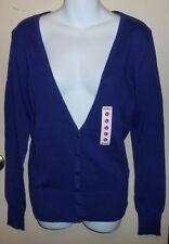 Bongo Junior V-Neck Long Sleeve Cardigan Sweater Grape Large (L) NWT
