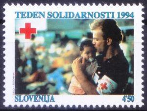 Slovenia 1994 MNH, Red Cross, Health, Nursing Baby, solidarity week