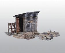 HO Woodland Scenics 213 Unpainted Metal kit * Smokehouse