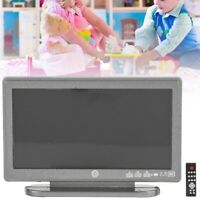 1:12 dollhouse miniatura pantalla plana LCD TV Remote Home Decor