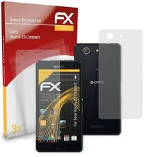 atFoliX 3x Screen Protection Film for Sony Xperia Z3 Compact matt&shockproof