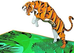 Tiger Pop Up 3D Greeting Card, Birthday card , Fathers Day, Anniversary
