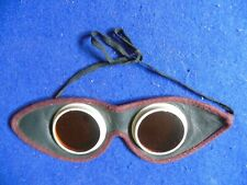 Original Vintage Aviator Style Cycling Goggles Collectible for Display
