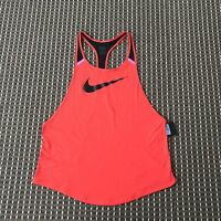 BNWT Nike Women's Red Sports Top Size M RRP$70 DRI FIT