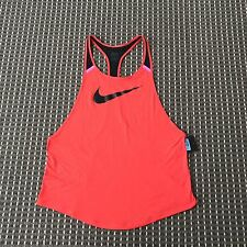 ** SALE ** BNT Nike Women's Red Sports Top Size M RRP$70 DRI FIT