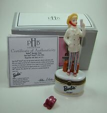 Midwest of Cannon Falls Porcelain Hinged Box Open Road Barbie with Shoes PHB