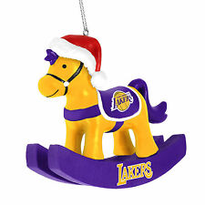 Los Angeles Lakers Chirstmas Tree Ornament - Rocking Horse - New NBA