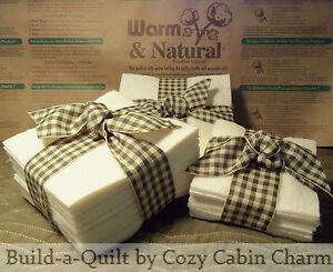 "Warm & Natural Precut Cotton Batting 7"" to 12"" Squares, Rag Quilt, Bowl Cozy"