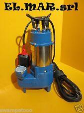 POMPA SOMMERSA HP 1,5 Elettropompa Monofase PER FOGNA kw 1,1 acque sporche