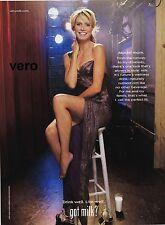 2009 magazine ad GOT MILK Heidi Klum actress TV host fashion designer model