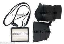 "PROCAM 3x 3"" LCD Viewfinder Mount for Canon 5D Mark II 7D 60D T2i 550D Nikon D90"