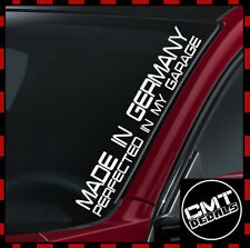 Made In Germany Car/Van Windscreen Decal Sticker Euro BMW Audi- 17 Colours 550mm