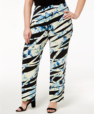 Alfani Plus Size Printed Soft Pants, Size 2X, Retail $69.50