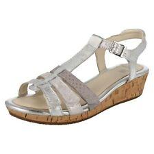 Sandales métalliques en cuir pour fille de 2 à 16 ans