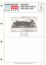 ITT/Graetz Service Manual für HiFi 4010/A und HiFi 9010/9011