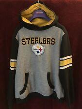 Boys Youth Size 12 Pittsburgh Steelers Hooded Sweatshirt Nfl Team Apparel
