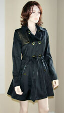 Solid Cotton Blend Trench Coats & Jackets for Women