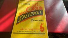 More details for chapelizod(ireland)---dublin eagles v southampton-speedway programme-25/4/51