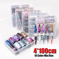 Starry Flower Nail Sticker Transfer Decals Mix Style  Holographic Nail Foil