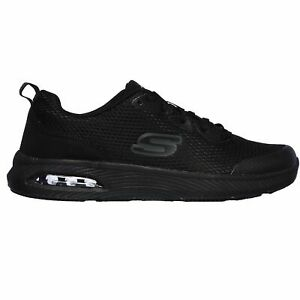 Skechers Men's 77520 Dyna Air SR Memory Foam Slip Resistant Black Work Shoes