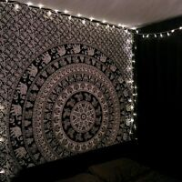 Twin Hippie Tapestries Indian Bohemian Mandala Wall Hanging Elephant Art Throw