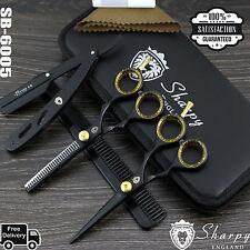 Salón Pro Cortar el pelo, Barbería & TIJERAS PARA ENTRESACAR PELUQUERÍA Set 14cm