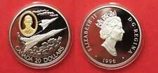 CANADA 20 Dollars 1996 CF-105 Arrow AVIATION silver GOLDINLAY Proof RARE!# 91958