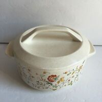 "Vintage Lenox Temper-Ware Merriment 6.5"" Round Covered Casserole Baking Dish Lid"