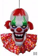 Creepy Talking Clown Head with Light Up Eye Halloween Decoration