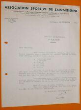RARE FOOTBALL 1951 COURRIER EN-TETE AS SAINT-ETIENNE ASSE VERTS DEMANDE MATCH