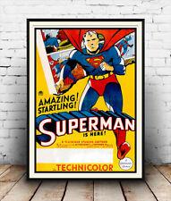 Increíble película de Superman, Vintage Reproducción de Publicidad Cartel, Pared Arte.