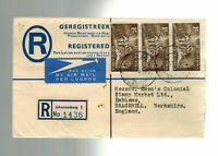 1953 South Africa Johannesburg Registered Cover to England