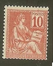 "FRANCE STAMP TIMBRE  N° 112 "" MOUCHON 10c ROSE "" NEUF xx TTB"