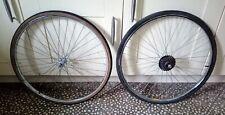 "Vintage Wheelset 26x1 1/4"" NOS Complete with tyres & freewheel"