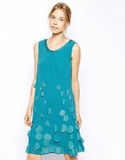 BNWT❤️Coast❤️Size 8 Bella Turquoise Blue Dress Evening Weddings Cruise Holiday