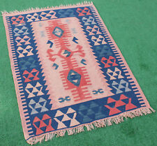 Turkish Kilim Rug 35''x47'' Primitive Oushak Rug Kilim Fashion Rug 91x120cm