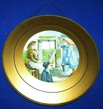 Victorian Round Flue Cover 3 Children Fetching Water From A Well Excellent Condi