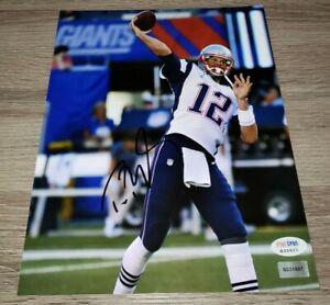 Tom Brady Signed Auto   superbowl  Photo 8x10 PSA DNA