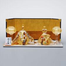 Japanese Glass Work Interior Hina Ningyo Hinamatsuri Doll Gold Leaf Craft Art