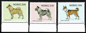 Norway 816-818, MNH. Dogs: Farm Dog, Elk hound, Hunting dog, 1983