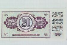 More details for banknote - narodna banka jugoslavvije - 20 dinara - dv 9815042 - 1978 - ehb