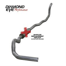 "Diamond Eye K4211A-RP 4""Turbo Back Exhaust 89-93 Dodge 5.9 Diesel 4WD No Muffler"