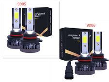 4x 9005 9006 Combo Mini LED Headlight Bulbs Kit Fanless High Low Beam 6000K