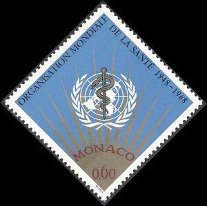 Monaco 1968 WHO/UN/World Health Organisation/Welfare/Medical 1v (n43693)