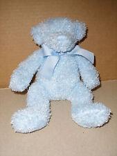 "Baby Adventure Plush BLUE Teddy Bear Stuffed Animal 10"" Soft Toy 2005 EXCELLENT"