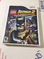 LEGO Batman 2: DC Super Heroes (Nintendo Wii, 2012)  CIB Free and Fast Shipping