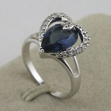Size 5~10 Fabulous Blue Sapphire Fashion Jewelry Gift Gold Filled Ring rj2103