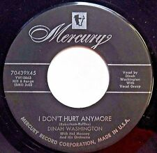 DINAH WASHINGTON with doowop group 45 I don't hurt anymore b/w Dream  FM594