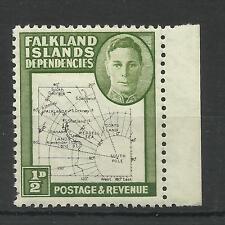 Falklands 1946 Sg G9, 1/2d Black & Green, Lightly M/M. [109]